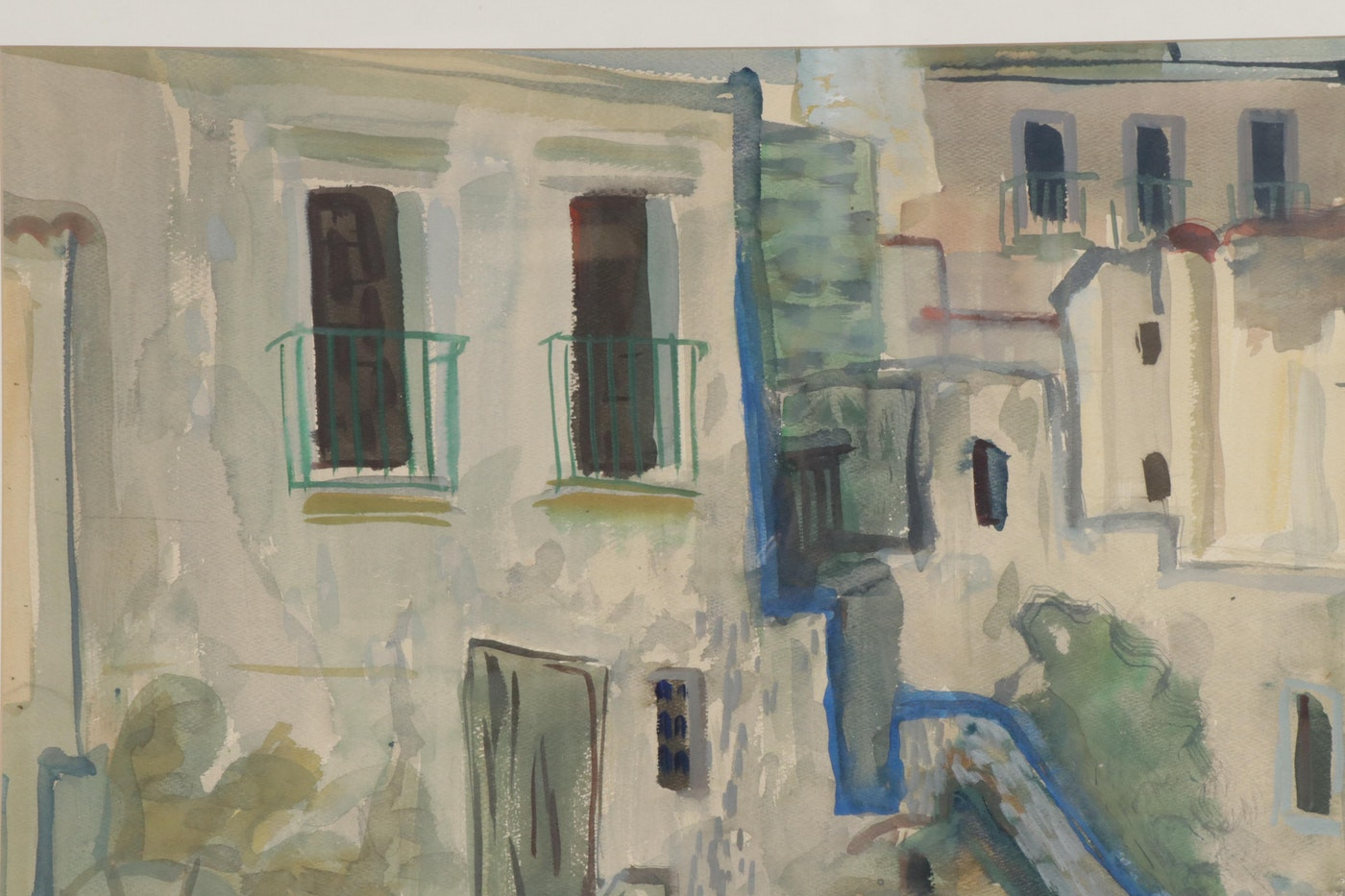 "Bill Rakocy Watercolor Painting ""Foria, Italy"""