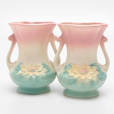 """Hull Art """"Water Lily"""" Vases, Mid-20th Century"""
