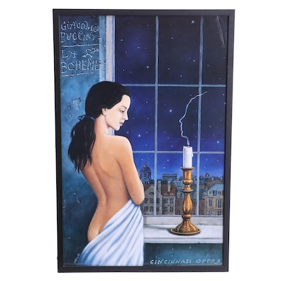 "Offset Lithograph Poster after Rafal Olbinski for Cincinnati Opera ""La Boheme"""