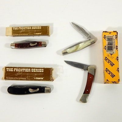 Three Vintage Pocket Knives with Imperial Ireland, Camco