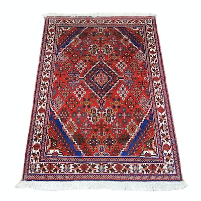 Hand-Knotted Persian Abadeh Wool Accent Rug