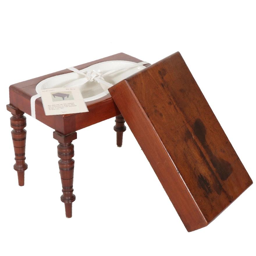 English Hand Crafted Portable Thunder-Box Commode, circa 1880