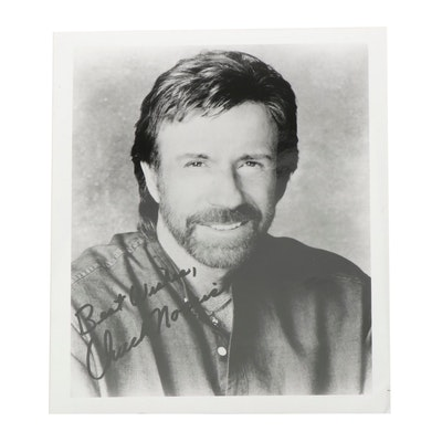 Chuck Norris Autographed Photo