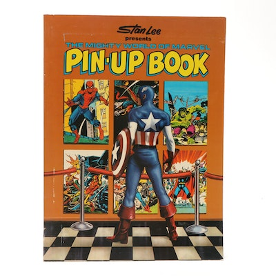 """1978 First Edition """"Stan Lee Presents The Mighty World of Marvel Pin-up Book"""""""