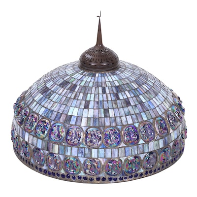 Tiffany Style Turtle-Back Stained Glass Shade