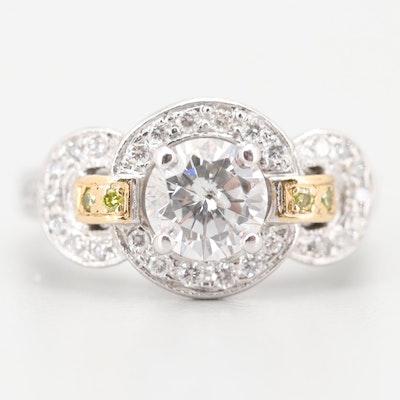 14K White and Yellow Gold 1.87 CTW Diamond Ring
