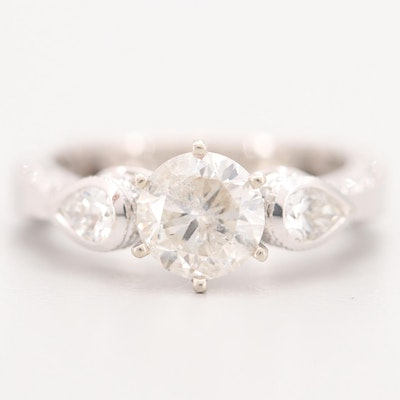 18K White Gold 2.29 CTW Diamond Ring