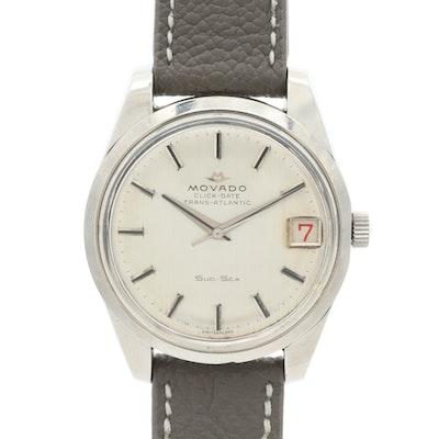 Vintage Movado Trans-Atlantic Sub-Sea 50 Wristwatch