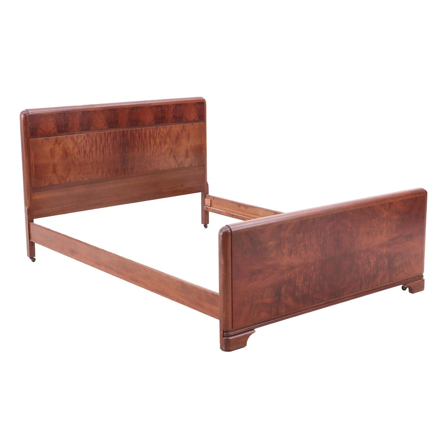 Mid Century Modern Walnut Full-Size Bed Frame