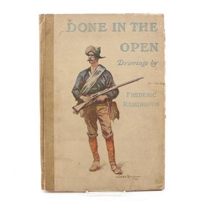 "1904 ""Done in the Open: Drawings"" by Frederic Remington"