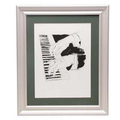 "Giclée after David Stone Martin ""The Pianist"""