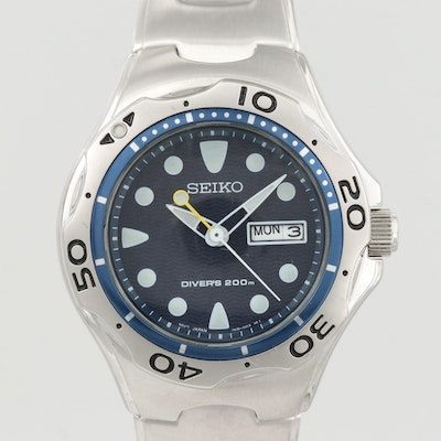 Seiko Scuba Divers 200M Stainless Steel Quartz Wristwatch
