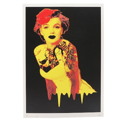 Death NYC Tattooed Monroe Offset Lithograph