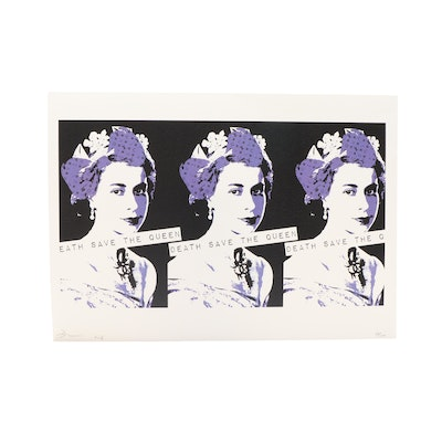"Death NYC Offset Lithograph ""3 Queen Purple"""
