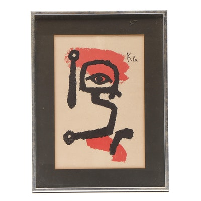 "Color Lithograph After Paul Klee ""Der Paukenspieler (The Drummer Boy)"""