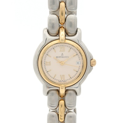 Bertolucci Pulchra18K Yellow Gold and Stainless Steel Wristwatch