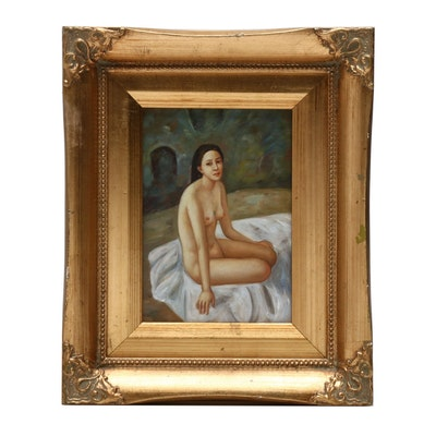 Nude Portrait Oil Painting