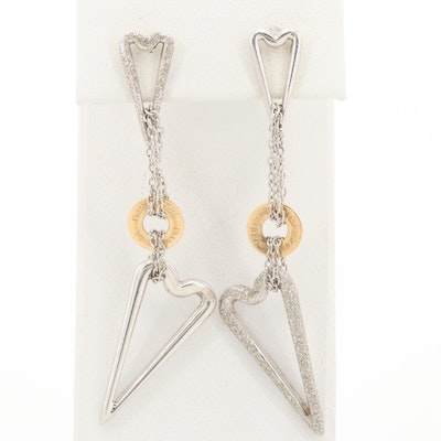 Pianegonda Sterling Silver Dangle Earrings with 18K Yellow Gold Accents