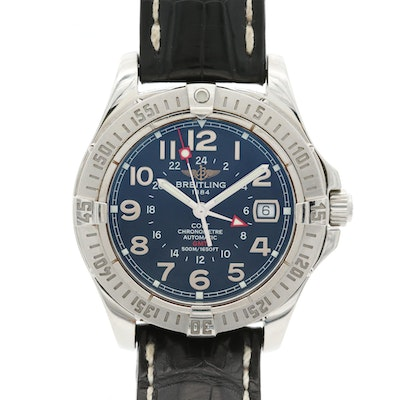 Breitling Colt GMT Stainless Steel Automatic Wristwatch