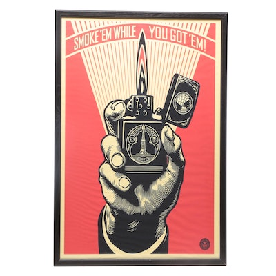 "Giclee Print after Shepard Fairey ""Smoke 'Em While You Got 'Em"""