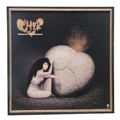 "Offset Lithograph Poster after Octavio Ocampo for Cher Album ""Heart of Stone"""
