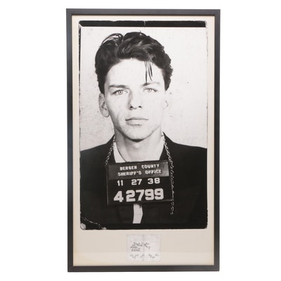 Offset Lithograph after Frank Sinatra's Mug Shot