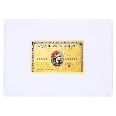 Death NYC American Express Offset Lithograph