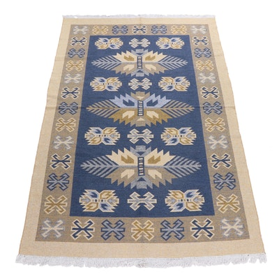 Machine Made Reversible Turkish Ogul Kilim Synthetic Rug