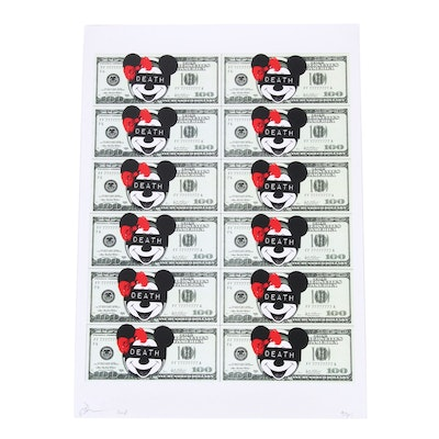 Death NYC  Mickey Mouse Money Offset Lithograph