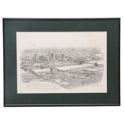 "Lithograph After Geneva South ""Greater Cincinnati"""