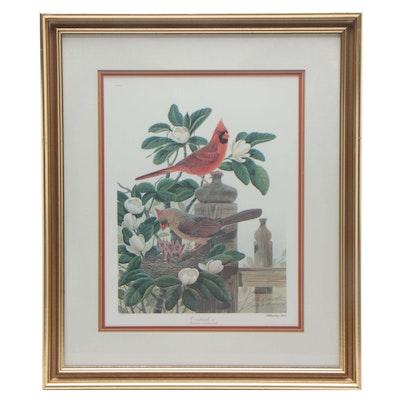 """John Ruthven Offset Lithograph """"Cardinals III"""""""