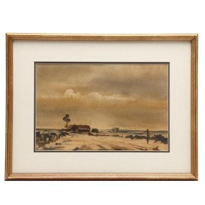 John Snelling Landscape Watercolor Painting