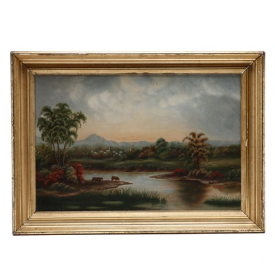 Late 19th Century Landscape Oil Painting