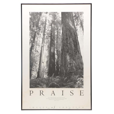 "Offset Lithograph Poster ""Praise"""