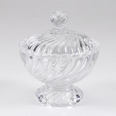 Baccarat Crystal Lidded Pedestal Candy Dish
