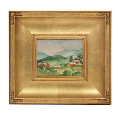 Alice Schille Landscape Watercolor Painting