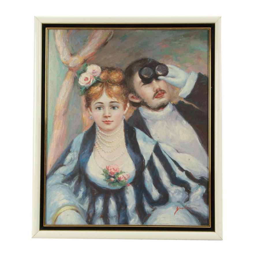 Oil Painting of Couple at Opera
