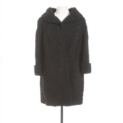 Black Persian Lamb Fur Coat from H. Jaye Stern of North Hollywood, Vintage