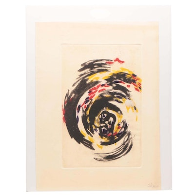 Swirled Abstract Etching