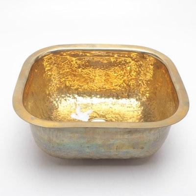 Artenvases S.A. Hammered Brass Sink