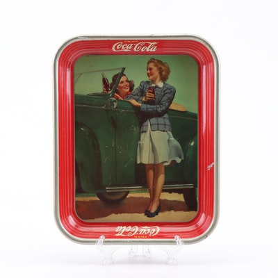 1942 Coca-Cola Metal Advertising Tray