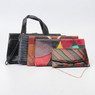 Lizard Skin, Python and Snakeskin, and Alligator Skin Handbags, Vintage