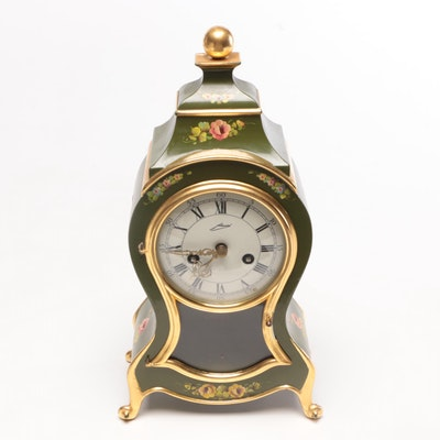 Schmid French Provincial Style Pendulum Clock, Mid to Late 20th Century