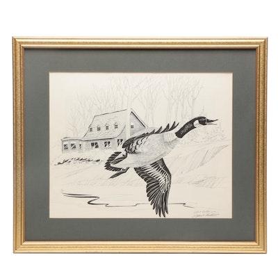 John A. Ruthven Canada Goose Lithograph