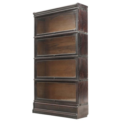 Oak Barrister Bookcase, Early 20th Century