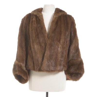 Muskrat Fur Jacket, Mid-20th Century