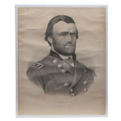 "Currier & Ives Lithograph ""U.S. Grant"""
