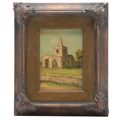 Devello Oil Painting of Church