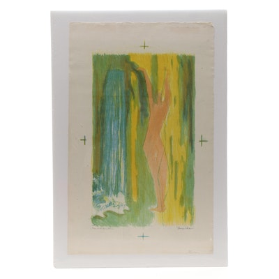 """Evelyn Levy Shaw Lithograph """"Man in the Sunshine"""""""
