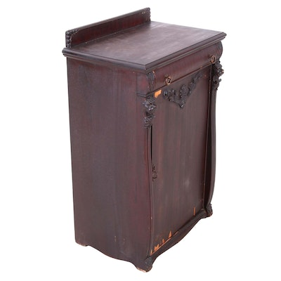 Late Victorian Mahogany Music Cabinet, Late 19th/Early 20th Century